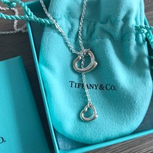 Brand new Tiffany open heart necklace